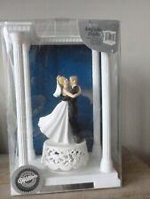 "Wilton Wedding Cake Topper ""Joyful Embrace"" with ready to engrave column setting"