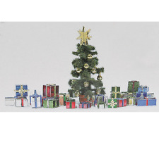 BUSCH HO SCALE 1/87 CHRISTMAS GIFTS & TREE KIT   SHIPS IN 1 BUSINESS DAY   1140