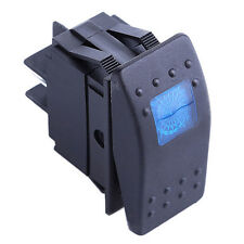 KFZ Wasserdicht 12V 20A Wippschalter Kippschalter LED Beleuchtet Licht 4P Blau
