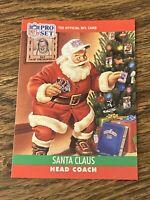 Vintage 1990 NFL Pro Set #1990 SANTA CLAUS Collectible Card HC RARE NrMt/Mt SP