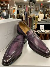 Jose Real Melanzana Leather Penny Loafers