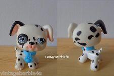 Littlest Pet Shop LPS #44 Dalmatian Blue Eyes Blue Collar Dog Puppy