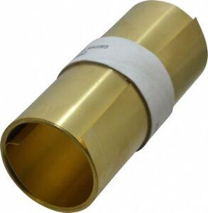 "Brass Shim Stock Roll, 6"" x 100"", 0.01"" Thick"