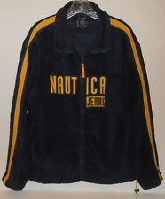 Vintage Nautica Jeans 1990's Full Zip Blue Fleece Jacket Men's Size Large