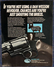 Vintage ORIGINAL Advertising DAN WESSON ARMS REVOLVERS 1-p Magazine Ad 1987