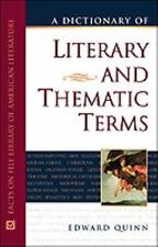 A Dictionary of Literary and Thematic Terms-ExLibrary