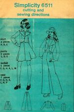 Sewing Pattern YJT Short JACKET, VEST, SKIRT, PANTS 9, 10