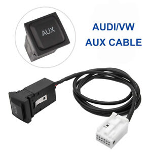 AUX IN Socket Switch Cable For Sagitar Golf VW Jetta MK5 MK6 RCD 510 310 UK