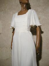 CHIC VINTAGE ROBE LONGUE 1970 TRUE VTG MAXI DRESS HIPPIE 70s KLEID ABITO (36/38)