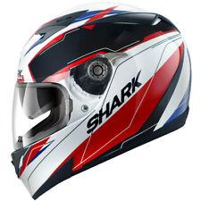 Shark S700-S Lab WKR Motorcycle Motorbike Helmet White Black Red Free Pinlock
