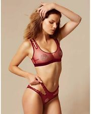 AGENT PROVOCATEUR GINGER BRA AND BRIEF SET SIZE LARGE / 12-14 / AP4 BNWT