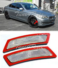 For 14-16 BMW 5-Series F10 CRYSTAL Clear Side Marker Lights Bumper Reflector