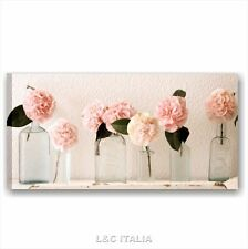 Rose vintage 1 QUADRI MODERNI 90x45 STAMPA TELA ARREDAMENTO SHABBY CHIC FIORI