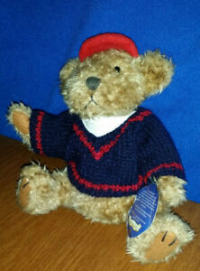 Brass Button Bear PICKFORD 1996 Tully BEAR OF JOY  Fully Jointed w/Sweater & Hat