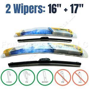 "PAIR Rain-X 16""+17"" Premium Latitude All-Weather Front Windshield Wiper Blades"