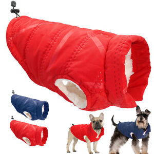 Dog Winter Clothes Warm Fleece Lined Coat Jacket Windproof French Bulldog Yorkie