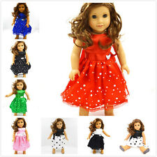hot random 10pcs mixed weeding dress clothes  for 18inch American girl doll hot