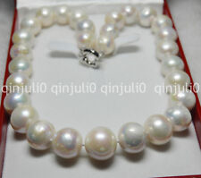 """WHITE ROUND SOUTH SEA BAROQUE PEARL HUGE 13-16MM NECKLACE 18"""" JEWELRY BOX JN559"""
