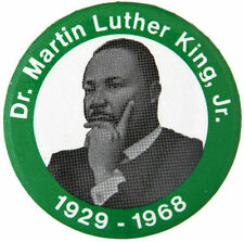 DR. MARTIN LUTHER KING BUTTON ISSUED FOR HIS BIRTHDAY IN JANUARY 1986.