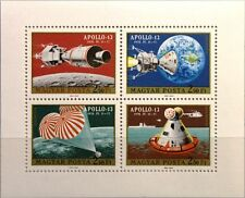 HUNGARY UNGARN 1970 Klb 2594-97 A C308 PERF Apollo 13 Moon Flight Space MNH