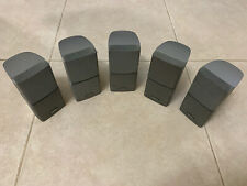 Bose Set Of 5 Double Cube Silver Speakers (#110)