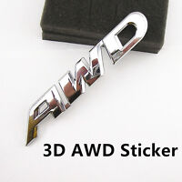 Pure Metal 3D AWD Emblem Badge Car Rear Tail Decorative Sticker For Off-Road SUV
