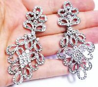 Chandelier Earrings Rhinestone Austrian Crystal 2.9 in Clear