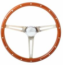1967 Chevrolet C2 Corvette Wood Aluminum Steering Wheel w/ Installation Kit""