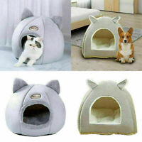 Pet Nest Dog Cat Bed Puppy Warm Cushion Cave Kennel Basket Canopy House Basket