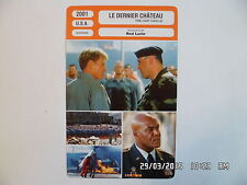 CARTE FICHE CINEMA 2001 LE DERNIER CHATEAU Robert Redford James Gandolfini