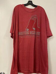 MLB Boston Red Sox Majestic Mens T-Shirt NEW Size 4XL