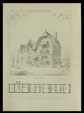 GIF SUR YVETTE, VILLA - 1898 - PLANCHE ARCHITECTURE - VASSEUR