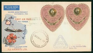 MayfairStamps Cover Fiji 1944 25th Anniversary Flight Between Fiji and Tonga Fij