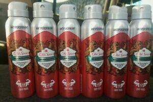 6 Old Spice BEARGLOVE Antiperspirant Deodorant Body Spray 150 ml / 5 oz