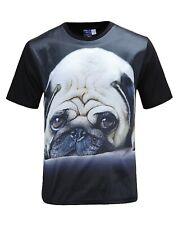 Pug Dog Black T-Shirt (funny cute dog t shirt)