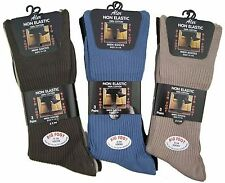 3, 6 Or 12 Pairs Big Foot 100%25 Cotton Non Elastic Socks White Black Mixed 11-14