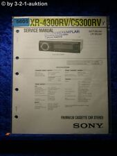 Sony Service Manual XR 4300RV /C5300RV Car Stereo (#5605)