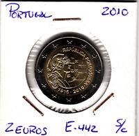 E442 MONEDA 2 EUROS SIN CIRCULAR PORTUGAL 2010