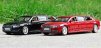 1/32 AUDI A8L Extended Light Sound Pull Back Diecast Model Toys Car Kids Gifts