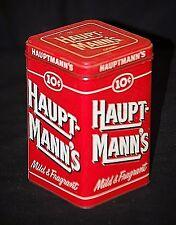 Vntage Advertising Ad 10¢ Hauptmann's Cigars Mild & Fragrant Litho Medal Tin Can