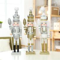 Glitter Christmas Walnut Soldiers Set Wooden Nutcracker Xmas Decoration Ornament