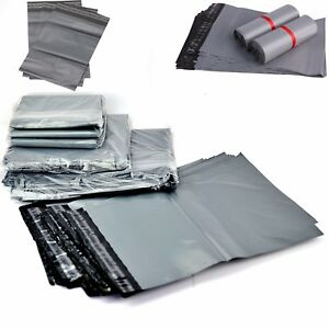 """STRONG GREY MAILING BAGS 24""""X 36"""" POLY POSTAL POSTAGE SELF SEAL PACKAGING SACKS"""