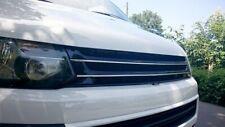 Für VW T5 GP Kühlergrill Front Sport Grill Schwarz Chrom-Rippen ohne Emblem 09-