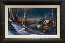 Terry Redlin Evening With Friends Deer Nostalgic Elite Framed Print   33 x 23.5