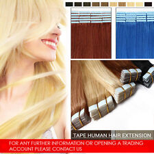 100% Tape In Remy Human Hair Extensions Women Fashion Style Seamless Skin Weft