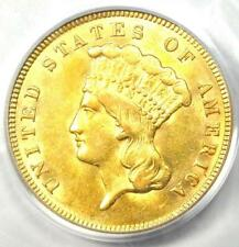 1874 Three Dollar Indian Gold Coin $3 - Certified PCGS AU58 - Rare Coin!