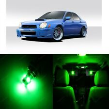7 x Green LED Interior Lights For 2002 - 2003 Subaru Impreza WRX STI + Pry TOOL