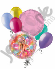 7 pc Barbie Fairytopia Balloon Bouquet Party Decoration Happy Birthday Pink Doll