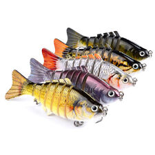 5pcs 6# 10cm Lure Fishing Bait Custom Painted Bait Fish Lure Crankbait 7Segment