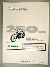 Ossa Stiletto Motorcycle PRINT AD -- 1970
